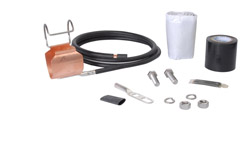 Surplus Andrew SGL7-15B4 SureGround Grounding Kit for 1-5/8 in corrugated coaxial cable
